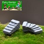Mini Cute Resin Crafts Fairy Garden Stone Steps Micro Landscape Miniature Garden Fairy Garden Decoration Terrariums Fairy Garden Accessories Bonsai Small Ladder Stone Landscaping Decorate DIY Material Resin Craft
