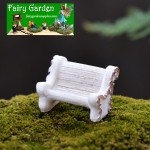 Resin White Flower Chair Shot Stage Property Fairy Garden Micro Landscape Miniature Garden Fairy Garden Decoration Fairy Garden Accessories Resin Arts and Crafts Fairy Garden Ornament
