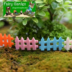 Korea  FleshyFlowerpot  Fairy Garden Micro Landscape Miniature Garden Pot Fairy Garden Decoration Fairy Garden Accessories   4Color Fence  DIYMaterial FleshyFairy Garden Decoration Fairy Garden Accessories