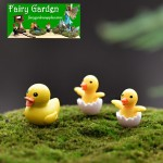 Mini Fairy Garden Duck Micro Landscape Miniature Garden Decorate Fairy Garden Decoration Fairy Garden Accessories Big Small Ducks Cute Little Yellow Duck Resin Crafts For Home Plants