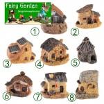 8Style Small House Fairy Garden Castle Villa Micro Landscape Miniature Garden Decorate Fairy Garden Accessories Resin Small House Fairy Garden Decoration Villa