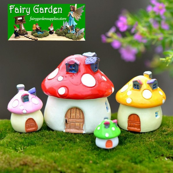Moss Fairy Garden Micro Landscape Miniature Garden Small Fairy Garden Decoration Fairy Garden Accessories ZakkaMediterranean Sea Style Mushroom House Castle Landscaping Fairy Garden Decoration Fairy Garden Accessories Fairy Garden Ornament Miniature Fairy Garden Supplies Miniature Ornaments