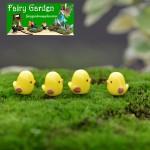 Moss Fairy Garden Micro Landscape Miniature Garden Decorate Fairy Garden Decoration Fairy Garden Accessories  Landscaping Cartoon  Mini YellowSmall Chicken  FleshyAccessories