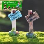 Moss Fairy Garden Micro Landscape Miniature Garden Decorate Fairy Garden Decoration Fairy Garden Accessories  Emulational  Ladybird Signpost  FleshyBonsai Accessories