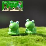 Resin Fairy Garden Decoration Animal Micro Landscape Miniature Garden Doll Decorate Terrarium Fairy Garden Accessories Blue Eyes Small Frogs DIY Bonsai Material Wholesale