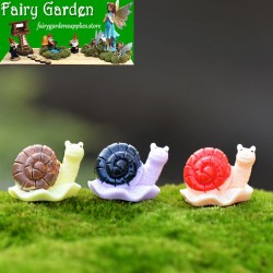 Moss Fairy Garden Micro Landscape Miniature Garden  Succulent Plants Fairy Garden Decoration Fairy Garden Accessories   3 Color  Snail  Resin CraftworkFairy Garden Decoration Fairy Garden Accessories   DIYMaterial