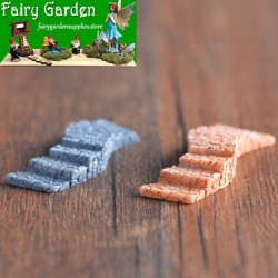 2Color S Stairs  Moss Fairy Garden Micro Landscape Miniature Garden Fairy Garden Decoration Fairy Garden Accessories  Landscaping Fairy Garden Decoration Fairy Garden Accessories  Fairy Garden Ornament  Resin Arts and Crafts Small Fairy Garden Decoration