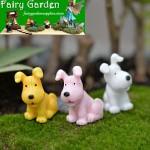 Aquarium Mini Fairy Garden Animal Micro Landscape Miniature Garden Fairy Garden Decoration Resin Small Dog Arts and Crafts DIY Landscaping Fairy Garden Ornament  Terrariums Fairy Garden Accessories Material Big Ears Dog