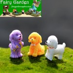 Fairy Garden Animals Pet Teddy Dog Figurines Micro Landscape Miniature Garden Fairy Garden Decoration Wholesale Fairy Garden Accessories Supplies Resin Arts and Crafts  DIY Landscaping Fairy Garden Ornament 3Style Small Poodle Small Dog