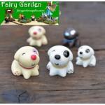 Fairy Garden Dog Micro Landscape Miniature Garden Fairy Garden Decoration Fairy Garden Accessories Resin Arts and Crafts DIY Landscaping Fairy Garden Ornament Pot Decorate 3 Styles Small Dog Terrarium
